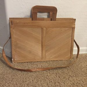 Vtg Eel Skin Brief Case Attaché Bag